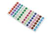 Strass adhésifs ronds couleurs assorties - 72 strass - Strass autocollants - 10doigts.fr