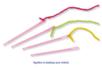 Set de 8 aiguilles en plastique, couleurs assorties - Laine - 10doigts.fr