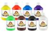 Peinture acrylique 500 ml - 8 couleurs - Acryliques scolaire 12224 - 10doigts.fr