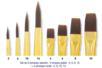 Pinceaux  à poils synthétiques - Set de  8 pinceaux ( Plats N°4, 6, 8, 10 et Ronds N°2, 6, 10, 14) - Pinceaux poils synthétiques - 10doigts.fr