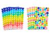 Gommettes étoiles et cœurs, couleurs tendances - 8 planches - Coeurs autocollants - 10doigts.fr