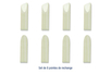 Pointes de recharge - 8 pointes assorties - Colles 12910 - 10doigts.fr