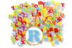 80 lettres en feutrine  - Stickers en feutrine 13788 - 10doigts.fr