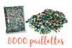 Paillettes couleurs assorties en vrac - 8000 pces - Paillettes facettes avec trou 10135 - 10doigts.fr