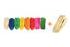 Bottes Raphia 50 gr  : Jaune, orange, rouge,rose, bleu, vert , vert foncé, naturel (x2) -  9 bottes - Paille et Raphia 10228 - 10doigts.fr