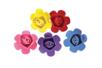 Fleurs en mousse adhésive - Set de 9 - Décorations à coller 36237 - 10doigts.fr