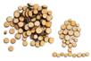 Rondelles de bois (Ø 7 mm à 2,5 cm - Épaisseur : 4 mm) - environ 100 pièces - Décorations en Bois 04359 - 10doigts.fr