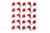 Stickers pailletés bonnet de Père Noël 2 x 1,5 cm x 25 pcs - Gommettes et stickers Noël 36208 - 10doigts.fr