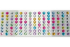 Stickers strass ronds 1 cm - 120 strass - Stickers strass, cabochons - 10doigts.fr