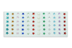 Strass adhésifs étoiles couleurs assorties - 72 pièces - Strass autocollants 19226 - 10doigts.fr
