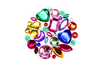 Strass formes assorties - 1 set (200 strass) - Strass 13340 - 10doigts.fr
