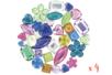 Strass cabochons , couleurs assorties - 4 sets de 300 strass - Strass 13349 - 10doigts.fr