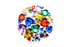 Strass coeurs couleurs assortis - 1 set (450 strass)  - Strass - 10doigts.fr