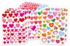 Super pack gommettes coeurs - 10 planches soit 534 stickers - Coeurs autocollants - 10doigts.fr