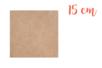 Support carré MDF 15 x 15 cm (Epaisseur : 3 mm) - Supports pour mosaïques 01008 - 10doigts.fr