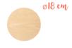 Support bois rond Ø 18 cm (Epaisseur : 5 mm) - Supports plats 18601 - 10doigts.fr