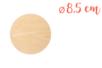 Support bois rond Ø 8,5 cm (Epaisseur : 3 mm) - Supports plats - 10doigts.fr
