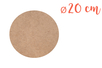 Support rond MDF Ø 20 cm (Epaisseur : 6 mm) - Supports pour mosaïques - 10doigts.fr