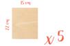Support bois rectangulaire 22 x 15 cm (Epaisseur : 3 mm) - Lot de 5 - Supports plats 18617 - 10doigts.fr