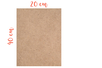 Support rectangle MDF 40 x 20 cm (Epaisseur : 6 mm) - Supports pour mosaïques 11327 - 10doigts.fr