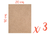 Support rectangle MDF 40 x 20 cm (Epaisseur : 6 mm) - Lot de 3 - Supports pour mosaïques 12145 - 10doigts.fr