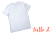 T-shirt taille L - Coton, lin 04984 - 10doigts.fr