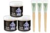 Promo : 3 pots de 250 ml de vernis acrylique brillant + cadeau de 3 brosses larges à poils courts spéciales vernissage, collage et vernis-collage - Vernis 11474 - 10doigts.fr