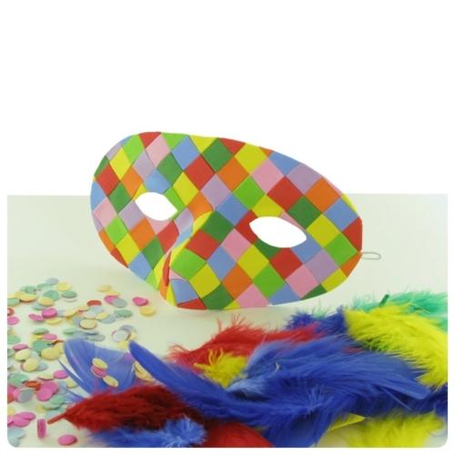 Masque arlequin carnaval f tes masques 10 doigts - Bricolage jardinerie grenoble ...