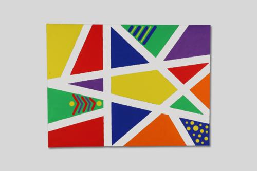 Mon premier tableau d'art abstrait