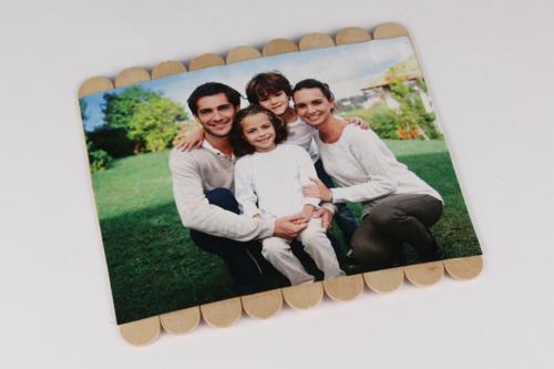 Puzzle photo avec bâtonnets en bois