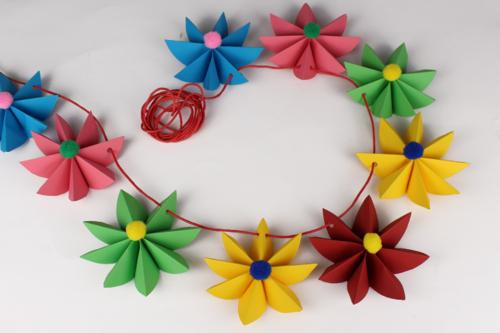 Guirlande De Fleurs En Papier Activités Enfantines 10 Doigts