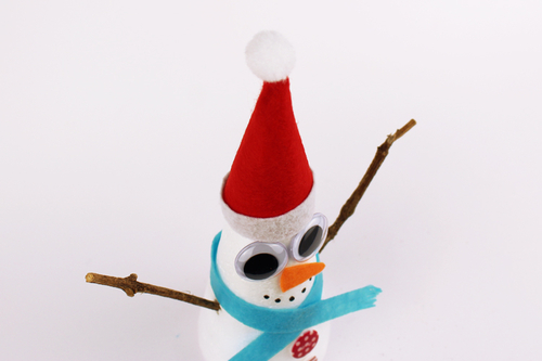 Bonhomme de neige conique