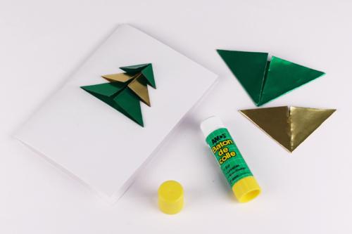 Carte sapin origami 3D