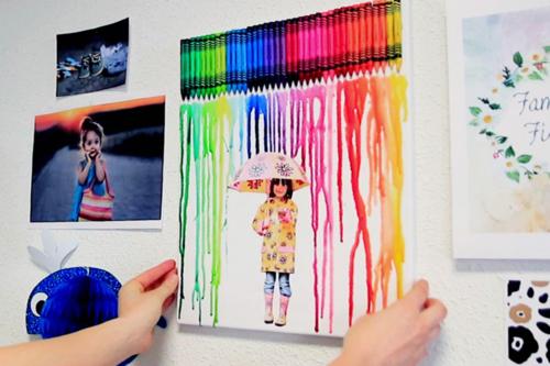 Tableau pluie de couleurs