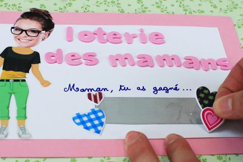Ticket de loterie pour la fête des mères
