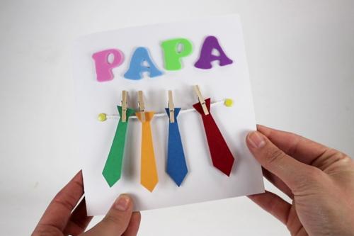 Carte cravates fête des pères