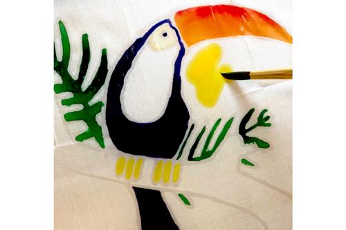 Colorier avec la peinture sur soie -