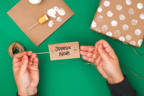 Emballage Cadeau aux tampons